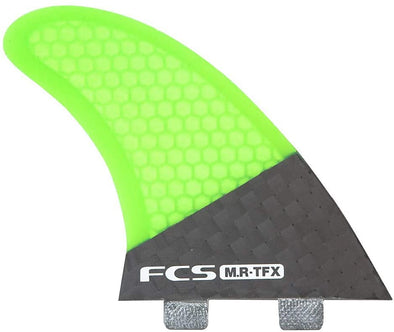 FCS MR-TFX Tri Fin Surfboard Fin Set - Green