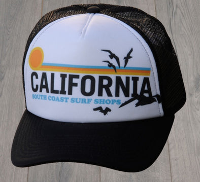 CALIFORNIA TRUCKER HAT BLACK