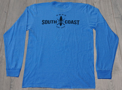 SOUTH COAST CROSS LOGO L/S BLUE