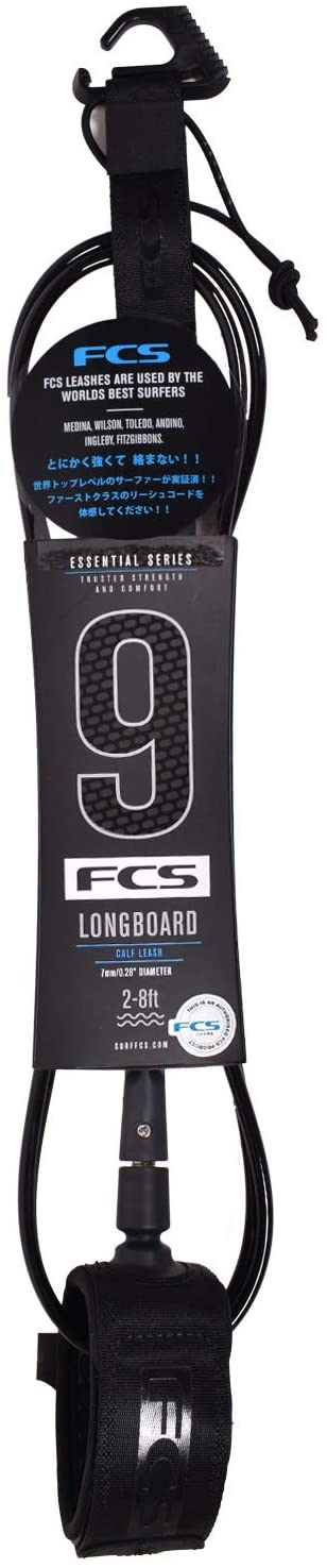 FCS Longboard 9' Calf Leash - Black