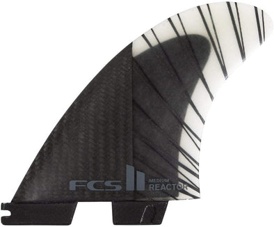 FCS II Reactor Performance Core Carbon Tri Fin Set - Black/Charcoal