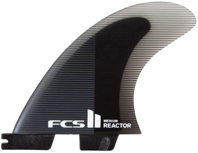 FCS II Reactor Performance Core Tri Fin Set - Charcoal/Black