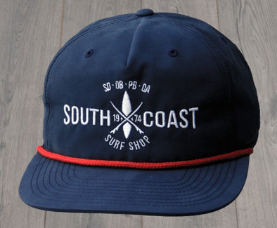 SOUTH COAST ADULTS CROSS LOGO HAT NAVY