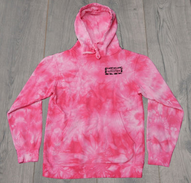 BOUTIQUE TIEDYE HOODIE PINK
