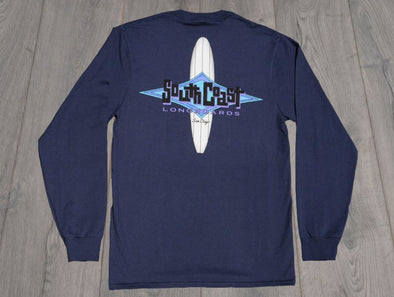 LB DIAMOND L/S TEE NAVY