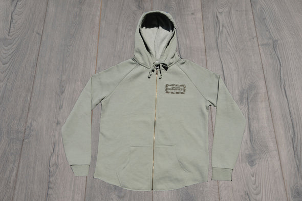 SOUTH COAST WOMENS BOUTIQUE ZIP UP SAGE