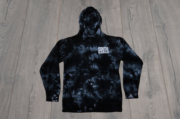 SOUTH COAST MENS CAMPER TIEDYE HOODIE BLACK