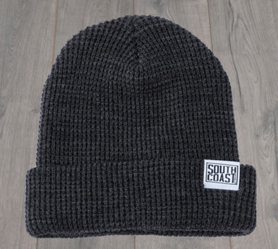 SOUTH COAST ADULTS CAMPER LOGO BEANIE CHARCOAL