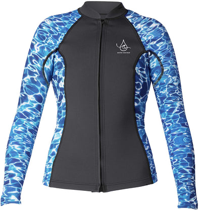 Xcel Axis Ocean Ramsey 2/1mm L/S Front Zip Womens Wetsuit Jacket Black-Water