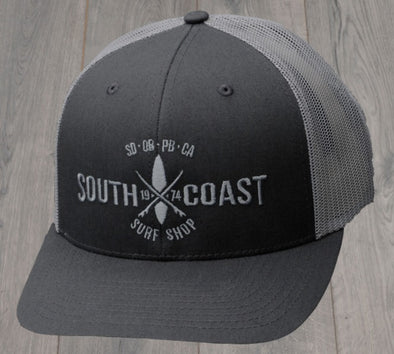 SOUTH COAST ADULTS CROSS LOGO HAT CHARCOAL