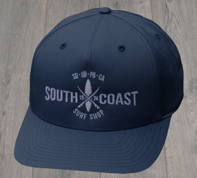 SOUTH COAST CROSS LOGO HAT NAVY