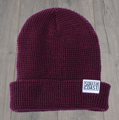 SOUTH COAST ADULTS CAMPER BEANIE BURGUNDY