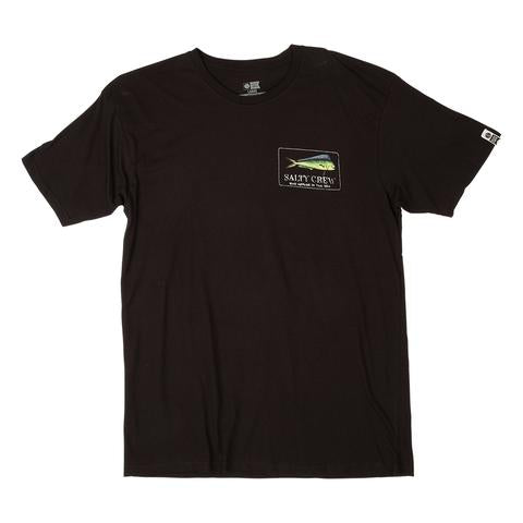 SALTY CREW MENS EL DORADO SHORTSLEEVE T-SHIRT BLACK