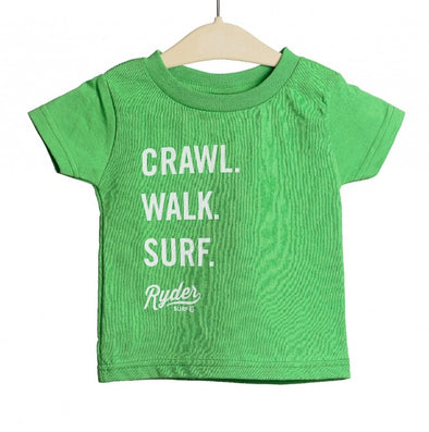 RYDER CRAWL WALK SURF TEE GRASS
