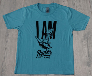 RYDER GROOT YOUTH TEE TURQUOISE