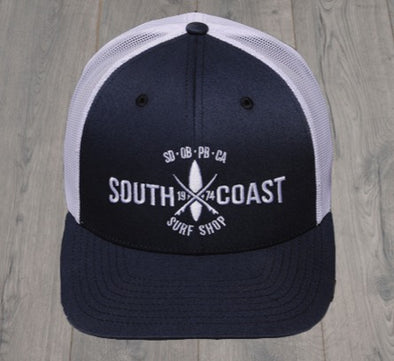 SOUTH COAST CROSS LOGO TRUCKER