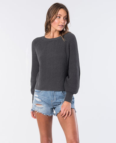 RIP CURL WOMENS COCO CREW SWEATER CHARCOAL