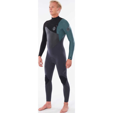 Flashbomb 3/2 Chest Zip Wetsuit in Green
