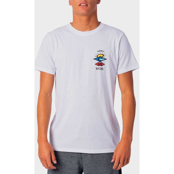 Search Logo Short Sleeve UV Tee in White