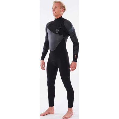 Flashbomb Heat Seeker 3/2 Chest Zip E6 Wetsuit in Black