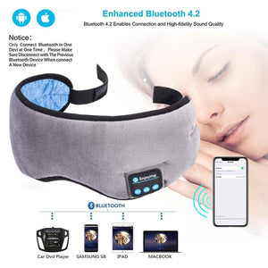 JINSERTA Wireless Stereo Bluetooth Earphone 5.0 Sleeping Eye Mask