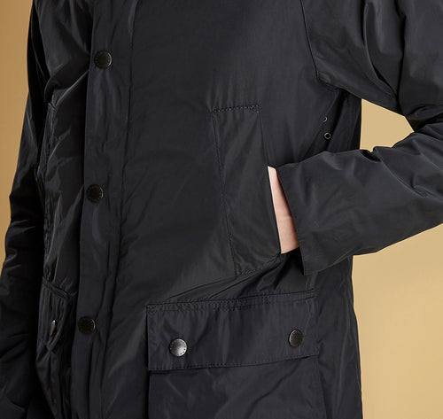 Barbour Hood Bedale Ca Black