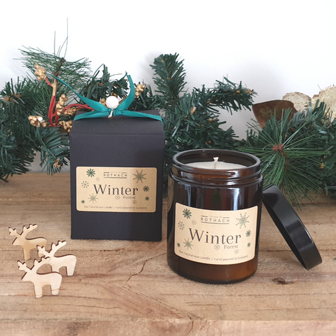 Winter Forest Candle / Vegan / Festive