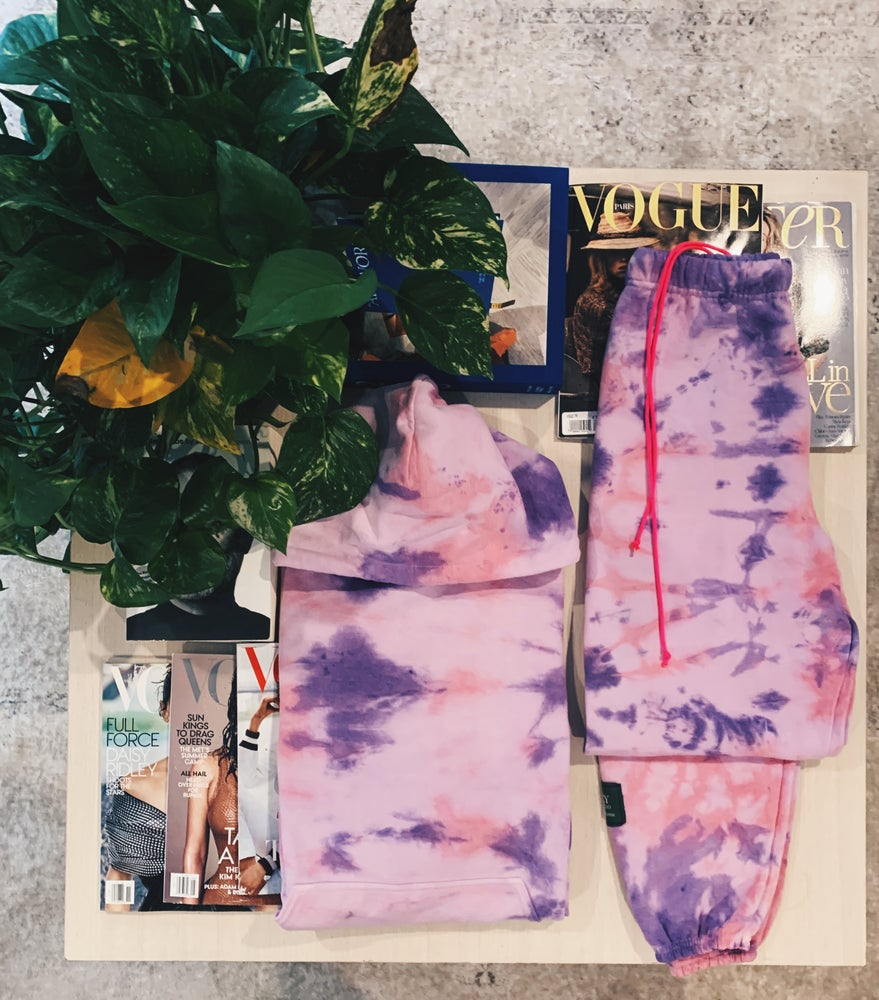 Danzy Violet and Rose Tie Dye Hoody