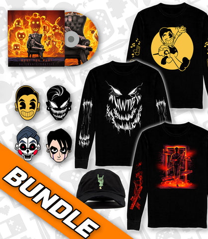 What You Want ULTIMATE BUNDLE 2: 3 LONG SLEEVE SHIRTS + HAT + PIN SET + CD *LIMITED RUN*
