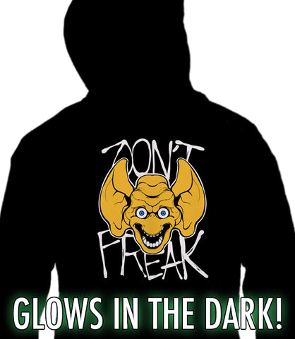 ZIP UP HOODIE Don't FREAK - Freddie Freaker GLOWS IN THE DARK! *LIMITED RUN*