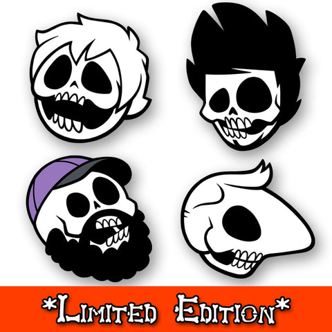 Boney Boys Pin Set GLOWS IN DARK *LIMITED EDITION*