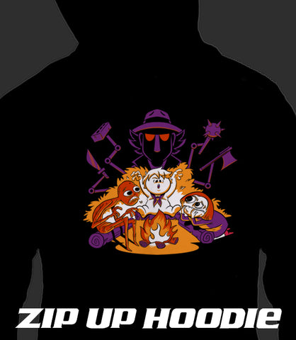 ZIP UP HOODIE Scary Stories by Funni Boys *LIMITED RUN*