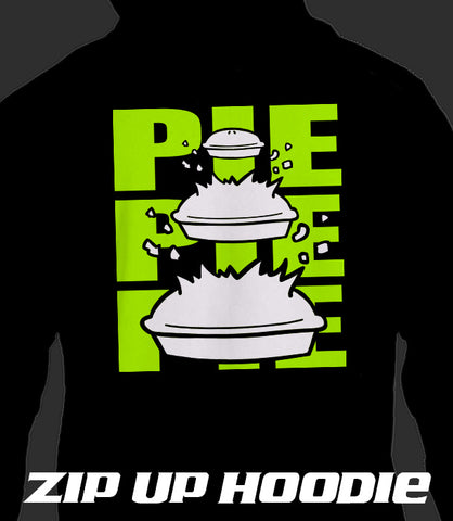 ZIP UP HOODIE  PIE PIE PIE (Add 2-4 WEEKS PROCESSING TIME)