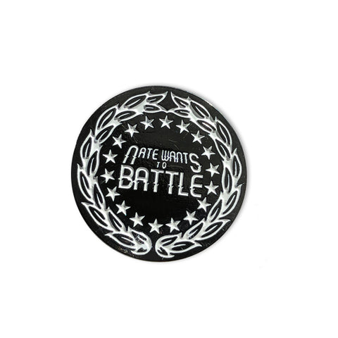 NateWantsToBattle Crest Pin