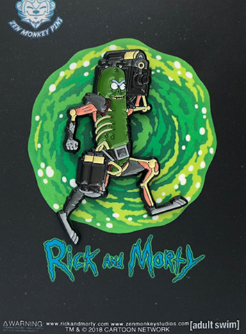 Pickle Rick's Laser Cannon Pin