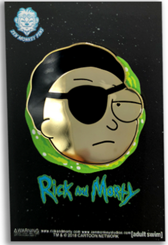 Golden Evil Morty Pin