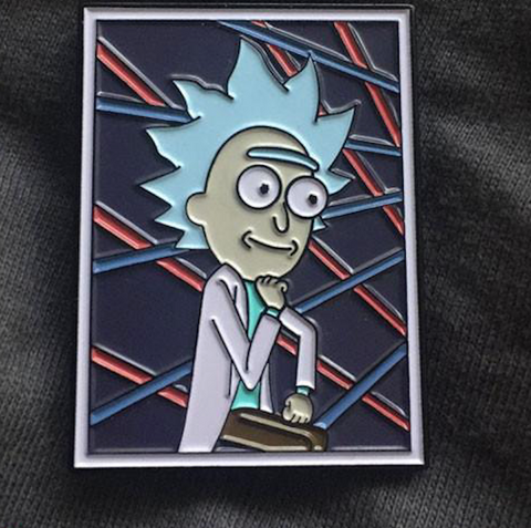 Tiny Rick Portrait Pin