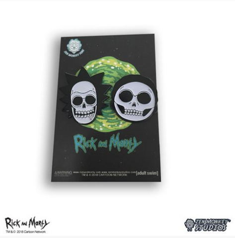 Glow in the Dark X-Ray Rick & Morty Pin