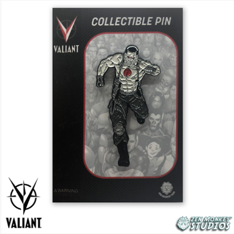 Running Bloodshot - Valiant Comics' Collectible Pins