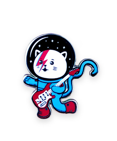 Major Tom Cat Enamel Pin Pal (Space Oddity Variant)