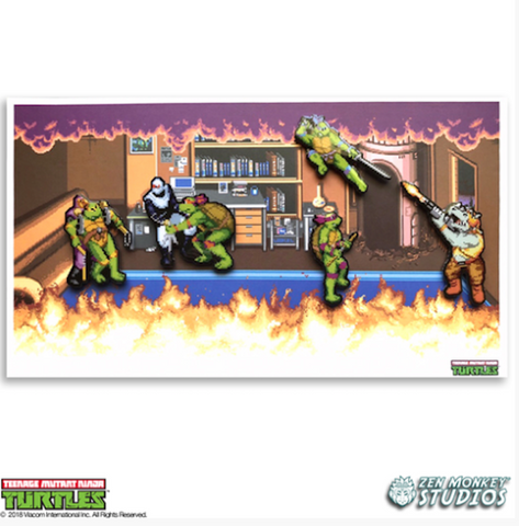 Arcade Boss Battle - TMNT Limited Edition Pin Set