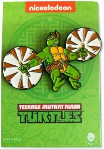Leaping Michelangelo Pin - TMNT Pin