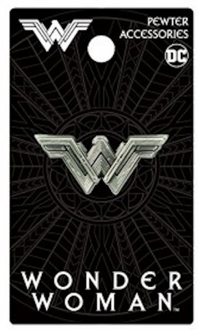 Wonder Woman Logo Deluxe Pewter Lapel Pin