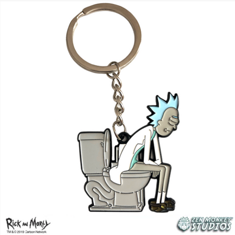Rick on his Throne! - Rick and Morty Keychain