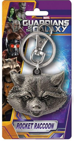 "Marvel Guardians Of The Galaxy Pewter Keychain: ""Rocket Raccoon (Head)"""