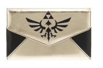 Gold Black Zelda Logo Envelope Wallet