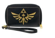 Zelda Logo Black Zip Around Wallet