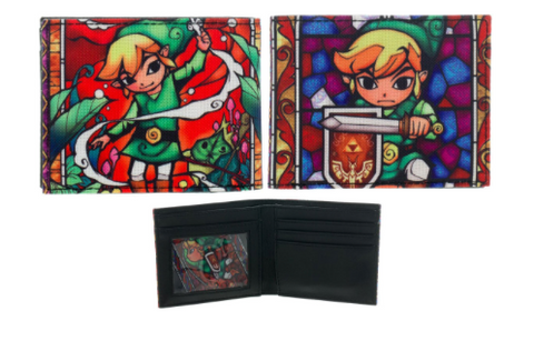 Nintendo Zelda Link Colorful Action Bi-Fold Wallet