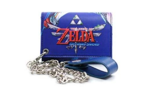 Nintendo Legend of Zelda Skyward Sword Wallet with Chain