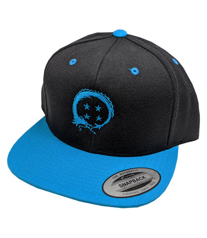 Team Four Star Logo Black and Blue Snapback *LIMITED RUN*